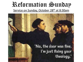 Reformation Sunday 2018