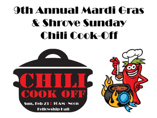 Shrove Sunday Chili Cookoff