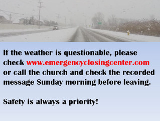 Weather Warning - Stay Safe!