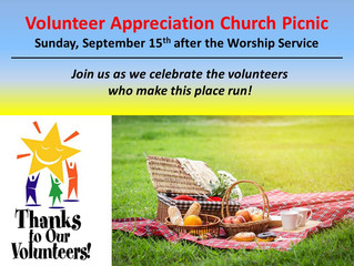 Volunteer Appreciation Sunday