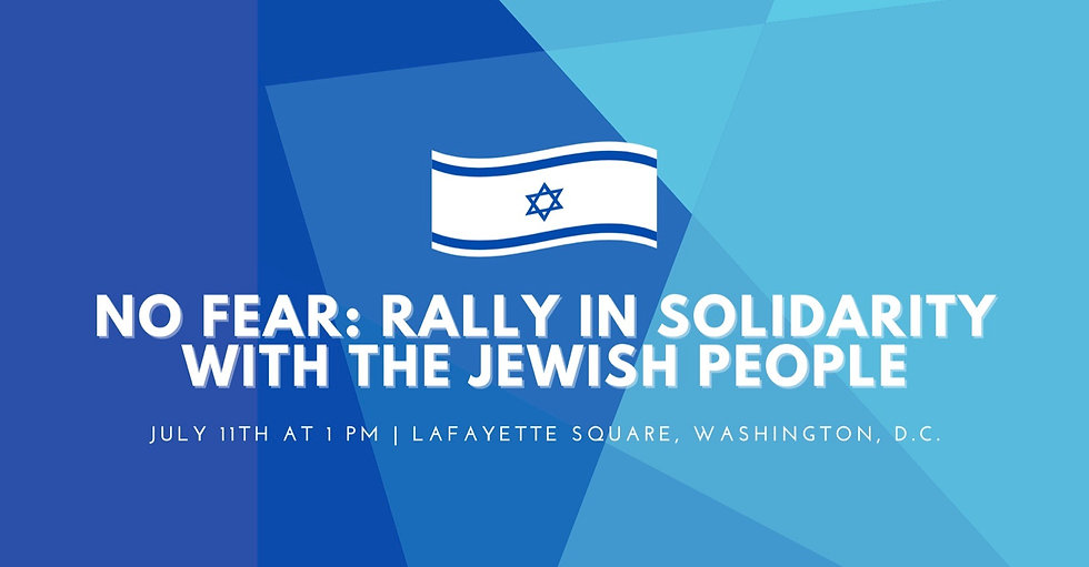 NO FEAR Rally in Solidarity with the Jew
