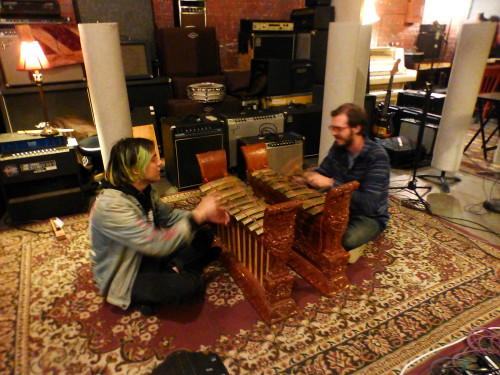 Cordey and Matt on gamelan