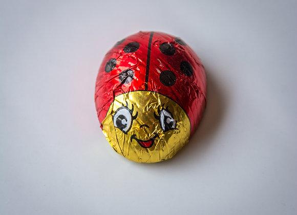 Foiled Chocolate Lady Bug