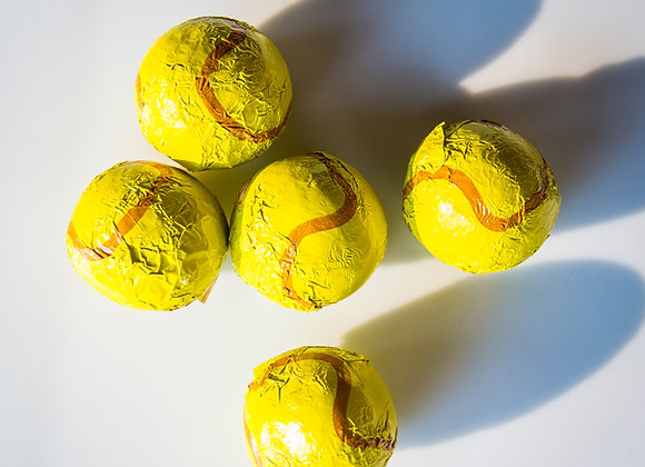 Foiled Chocolate Tennis Balls