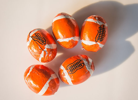 Foiled Chocolate Footballs