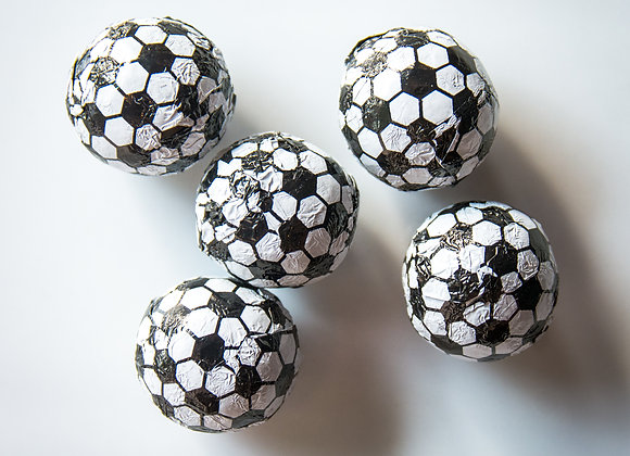 Foiled Chocolate Soccer Balls