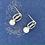 Thumbnail: CocoRaj Mini Earrings with White Freshwater Pearl