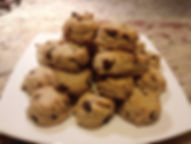 Low Carb Treats, gluten free, sugar free chocolate chip cookies