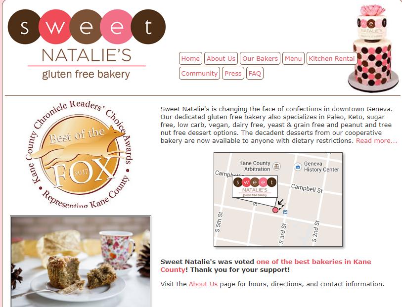 Sweet Natalie's Gluten Free Bakery in Geneva