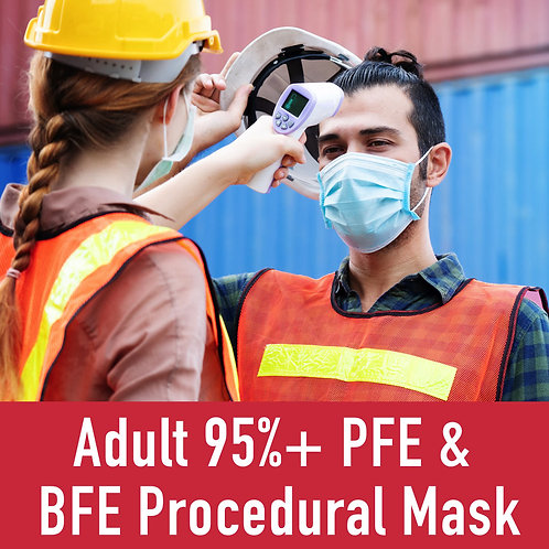 Adult 94% / 95%+ PFE / BFE Procedural Mask