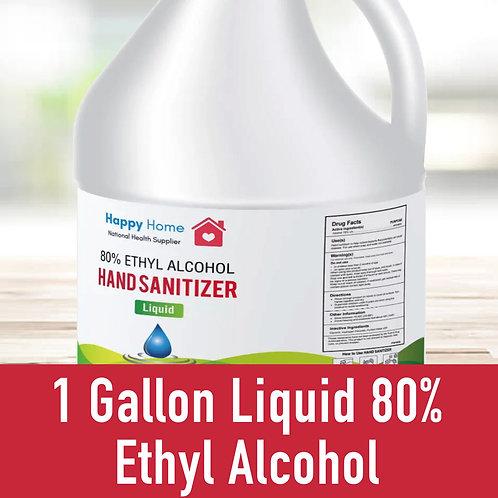 1 Gallon Liquid 80% Ethyl Alcohol W/O Pump