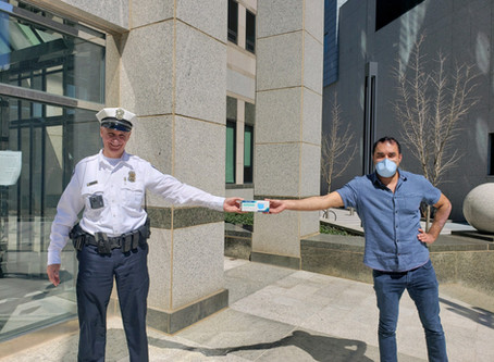 1000 masks donated to CPD