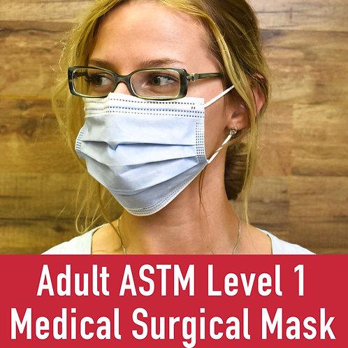 Adult ASTM Level 1 Medical Surgical Mask