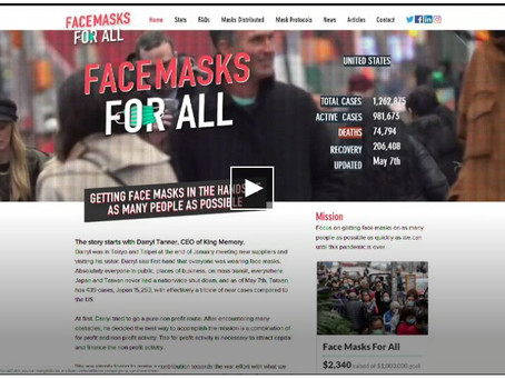 Facemasks for All delivers 40,000 masks to Volunteers of America