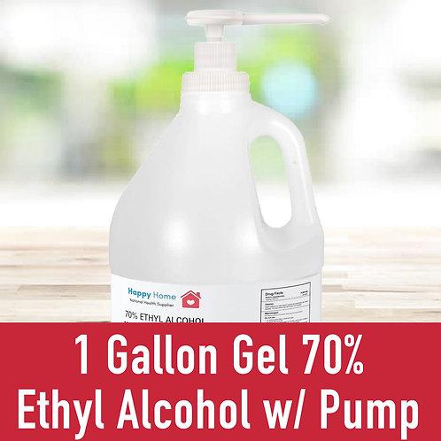 1 Gallon Gel 70% Ethyl Alcohol W/ Pump