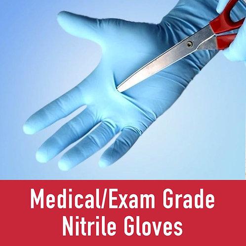 Medical/Exam Grade Nitrile Gloves