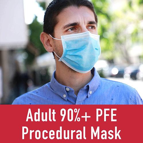 Adult 90%+ PFE Procedural Mask