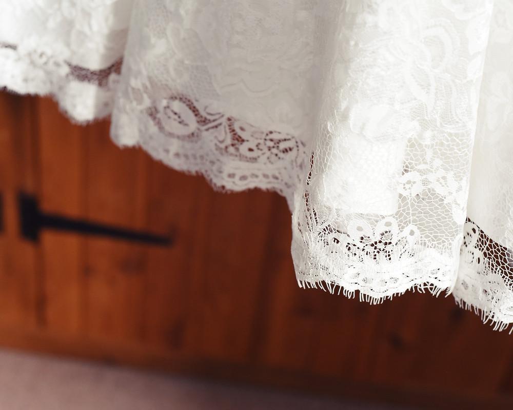wedding dress, lace, details