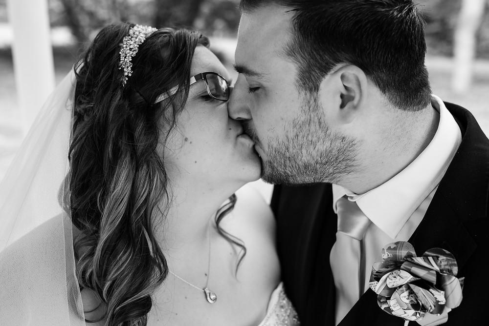 aston hall hotel, kisses, newly weds