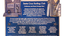 1936 Santa Cruz Surf Club Plaque Dedication