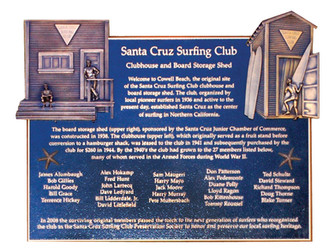 1936 Santa Cruz Surf Club Plaque Dedication