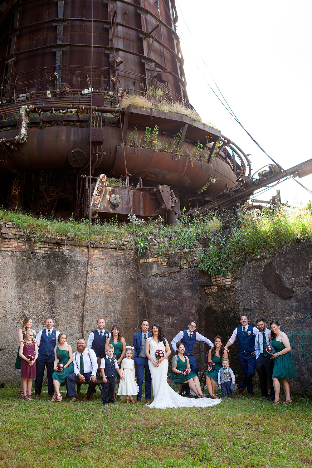 carrie furnace wedding party