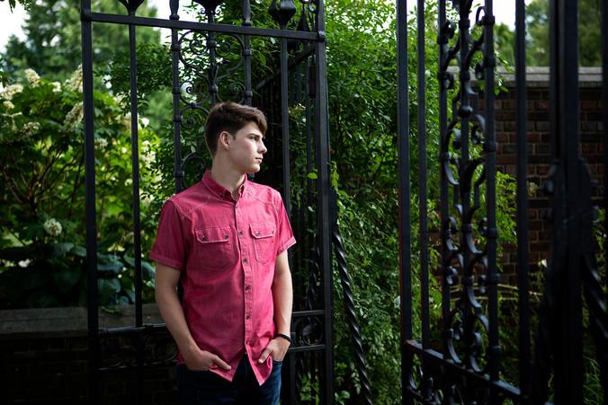 Carson | Norwin High School | Mellon Park Senior Portraits