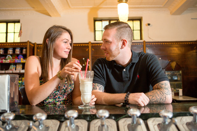Pat & Paige Engagement | Klavon's Ice Cream Parlor | Pittsburgh, PA