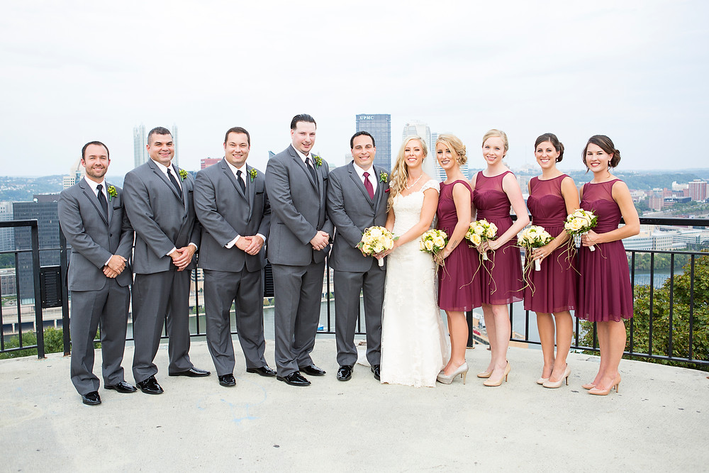 mount washington pittsburgh overlook wedding party