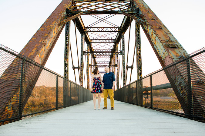 Jessica & Brian   Pittsburgh Engagement Session   Great Allegheny Passage Bike Trail