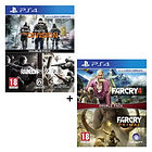 Jeux Rainbow Six Siege + The Division + Far Cry Primal + Far Cry 4 - PS4