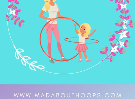 Mommy and Me moves with a hula hoop!