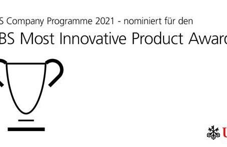 "Nomination für den ""UBS Most Innovative Product Award"""