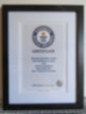 Guinness World Record Certificate