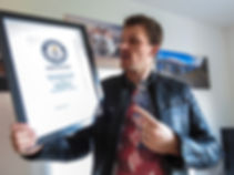 Rhys with Guinness world record