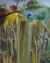 Lacustrine oil on canvas