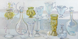 painting of glass objects