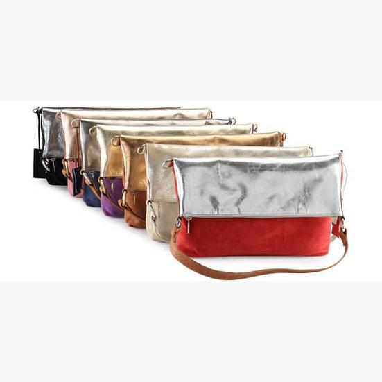 Metallic Leather 4 Way Bag
