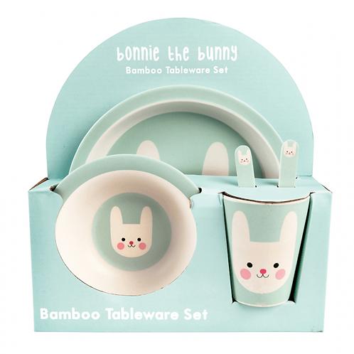 Bunny Bamboo Tableware Set