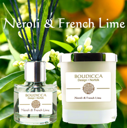 Boudicca Design - Neroli & French Lime Candles & Diffusers - from £21