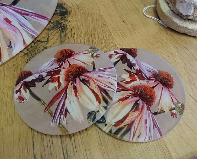 Round Glass Coasters