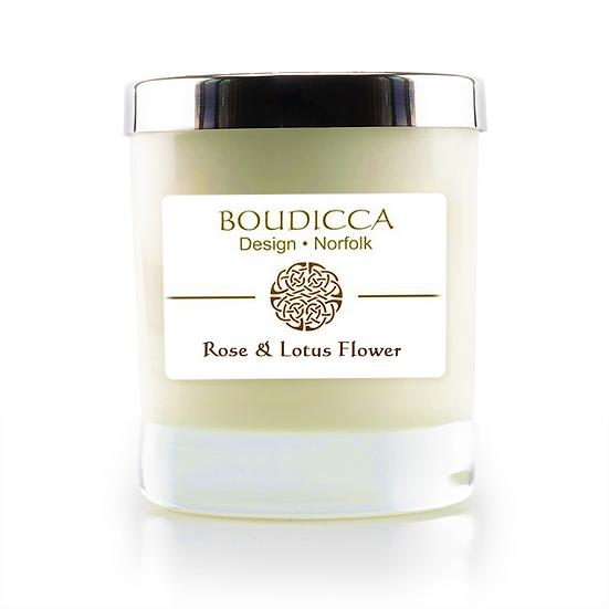 Rose & Lotus Flower Candle