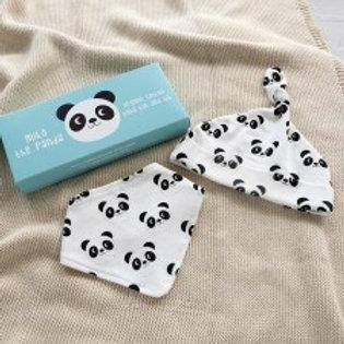 Miko The Panda Hat & Bib Set