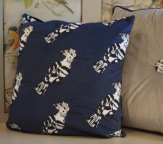 Velvet Hoopoe Bird Cushion