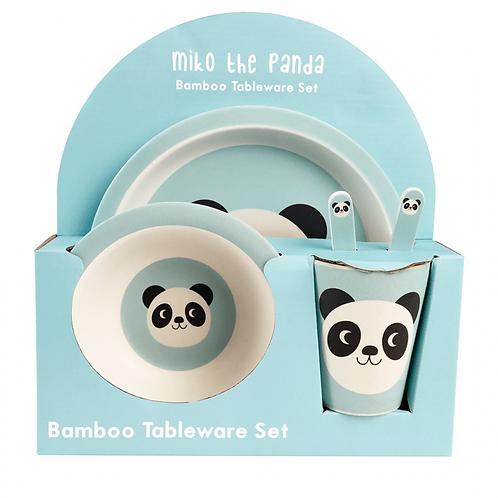 Panda Bamboo Tableware Set