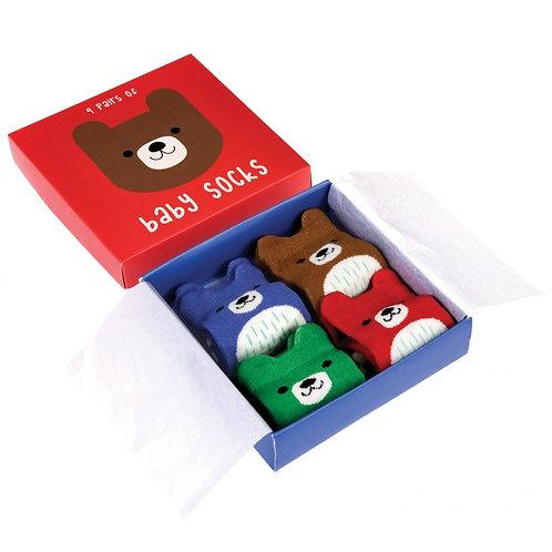 Bear Design Baby Socks
