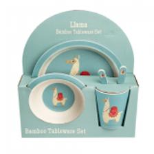 LLama Bamboo Tableware Set
