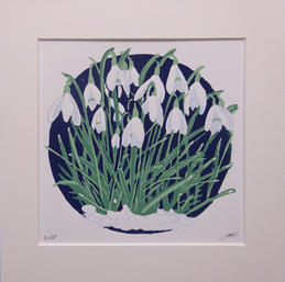 The Art Monger - Dainty Snowdrops by Margaret Mallows-£30