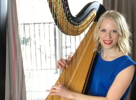 """Harp JukeBox Concert! Part of my """"Living Room Concert Series"""""""