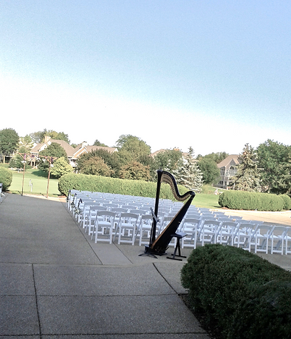 Harp Music for a Wedding at a Country Club